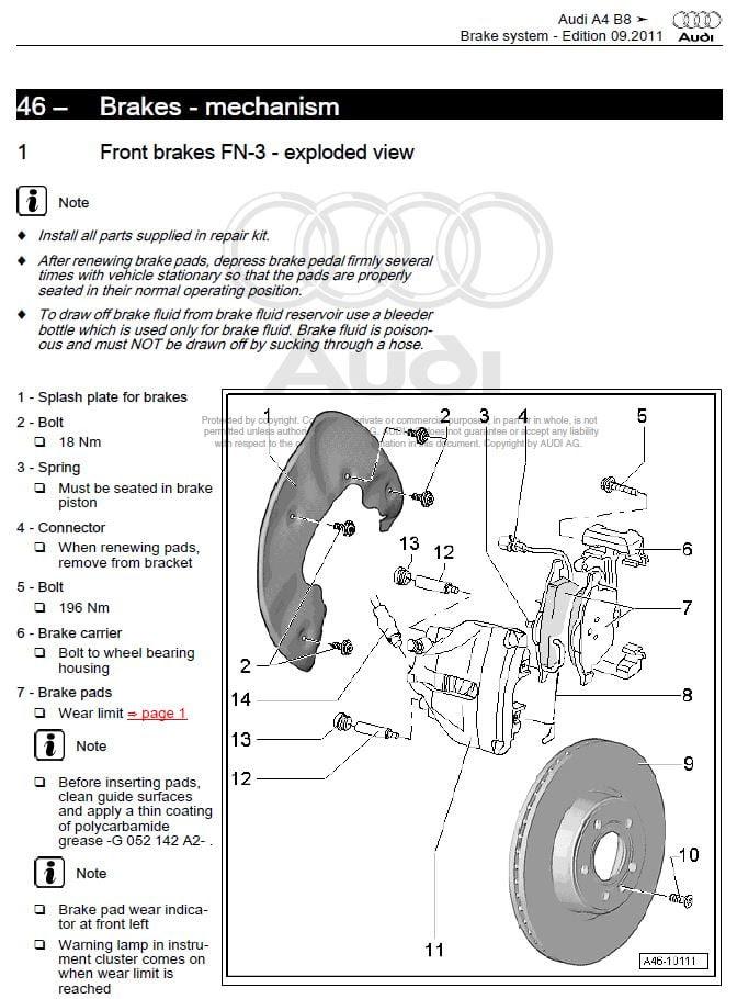 Audi A4 B8 2008 2015 Factory Repair Manual Factory Manual