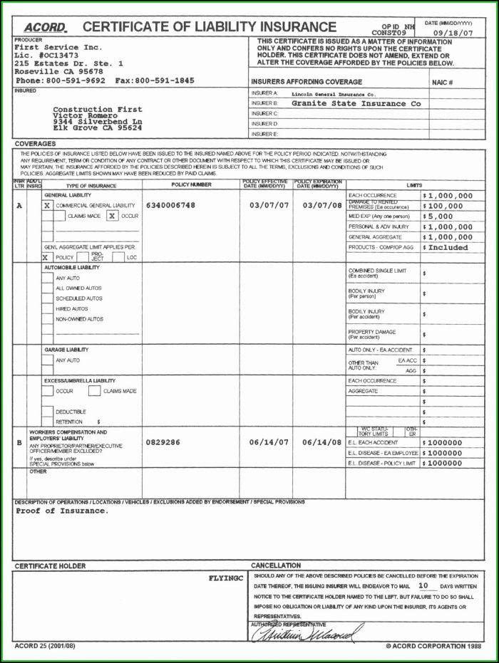 Acord 25 Fillable Form - Form : Resume Examples #v19xoBA27E