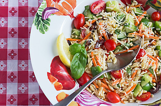Holiday Traditions with a Recipe For Fireworks Orzo Salad