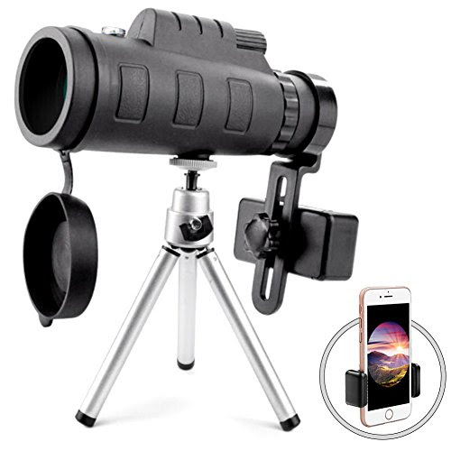 Binoculars & Scopes ⇒ Monocular Telescope High Power Monocular Scope with Phone Clip and Tripod for Cell Phone for Bird Watching Outdoors