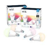 Wiz WiFi Smart Bulb A-19 Color 4-Pack