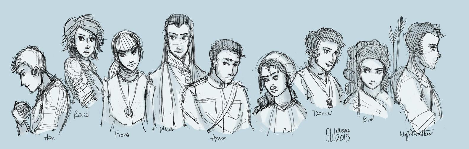 Exiled Queen - Sketch Dump by leabharlann