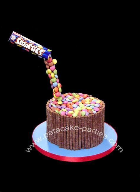 Pat a Cake Parties: Gravity Defying Smarties Cake