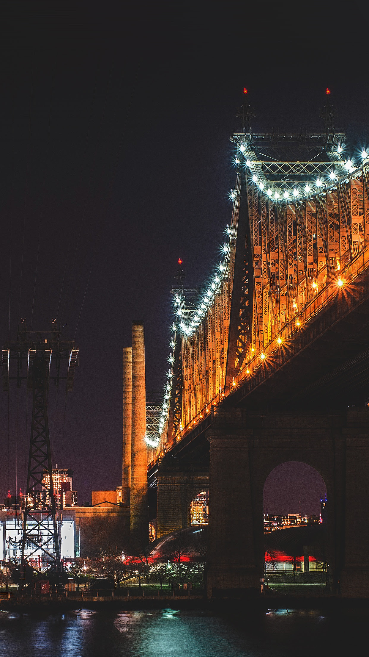 PAPERS.co | iPhone wallpaper | nf73-bridge-night-river ...
