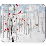 Hi Pile 60x80 Oversized Luxury Throw Forest Friends