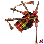 Toy Baby Bagpipe Buchanan Tartan Cover & Cord, Bag and Reeds Child Gift