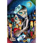Masquerade by Dave Sanchez Skeleton Sugar Skull Lovers Art Print - Medium