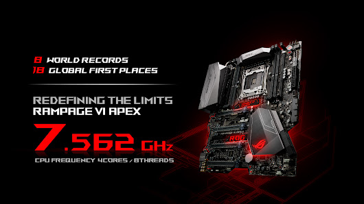 Rampage VI Apex breaks 8 world records and reaches 7.5GHz