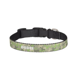 Camouflaged Pattern Personalized Dog Collar