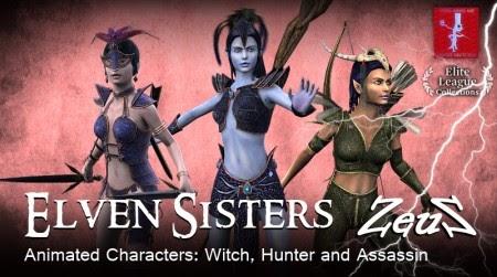Animation7 com ng: iCLONE PACKS- Elven Sisters - Medieval Fantasy
