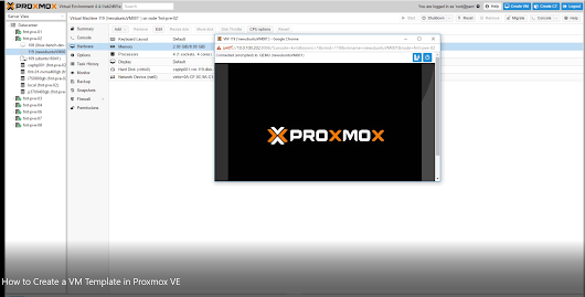 Creating a Proxmox VE VM Template to Speed Virtual Machine Deployment