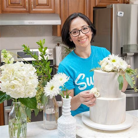 How To Put Fresh Flowers On Cake   Video   Sugar Geek Show