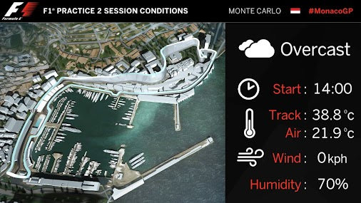 FP2 is up next - a few clouds, but no rain expected. For now...  #SauberF1Team #F1 #MonacoGP
