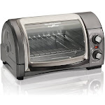 Hamilton Beach Easy Reach Toaster Oven With Roll Top Door Home Good - Grey