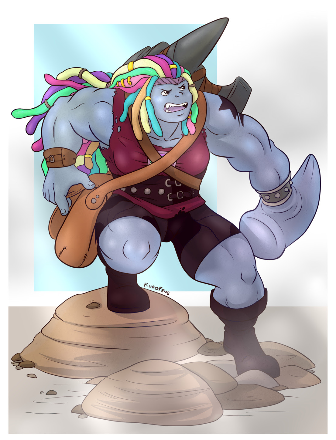 Civil war Bismuth blacksmith on the move.