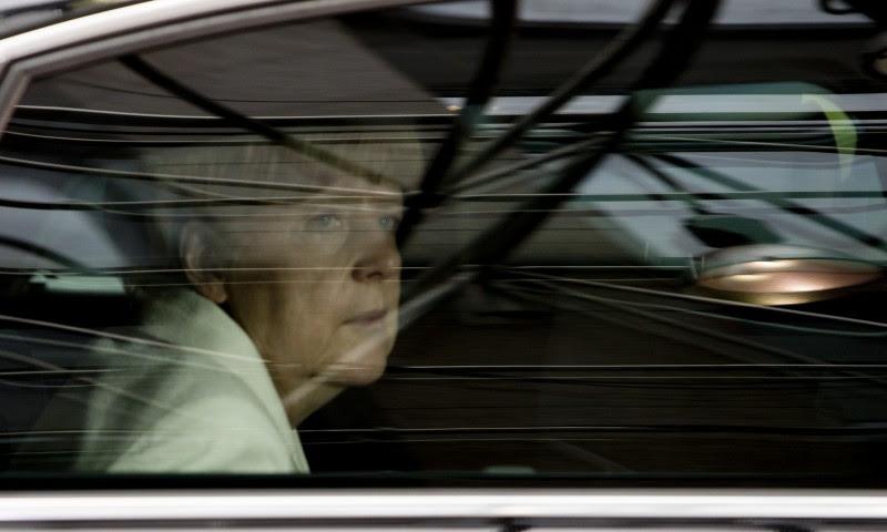<p>Angela Merkel, en su llegada a una cumbre europea de jefes de Estado en 2015.</p>