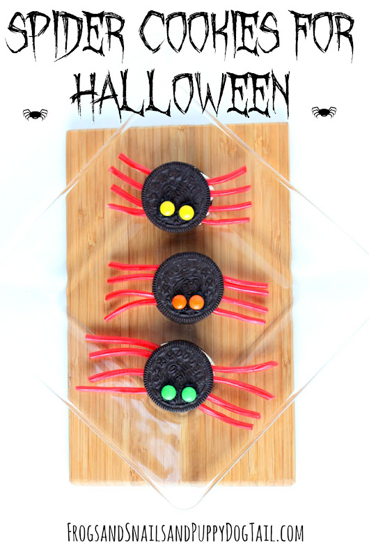 Spider Cookies for Halloween - FSPDT