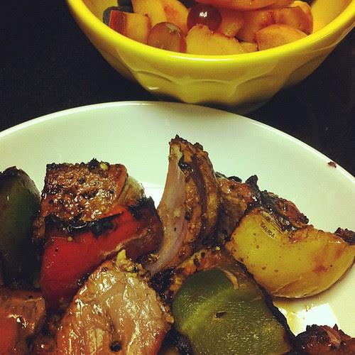 """Mustard Thyme """"Olympic Beef MEDALlions"""" & Flag Fruit Salad #wfd #Olympics """""""