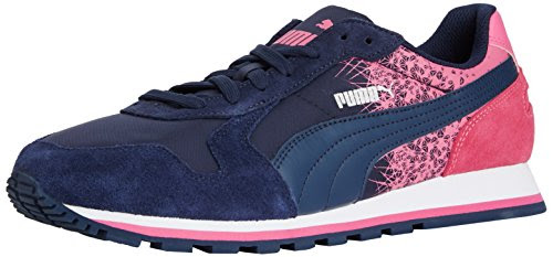 new concept cd5ec a672e Puma St Runner Fracture, Unisex Adults  Running Shoes, Pink  (Peacoat-Carmine Rose) 6 UK