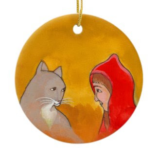Cat girl animals fun unique pet lover art painting ornament