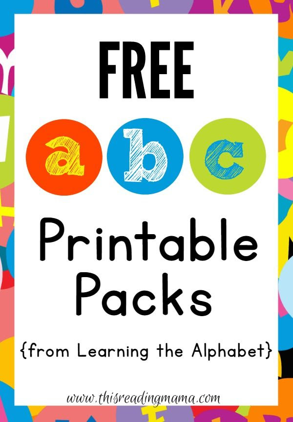 FREE ABC Printable Packs {Learning the Alphabet}   Teaching ...