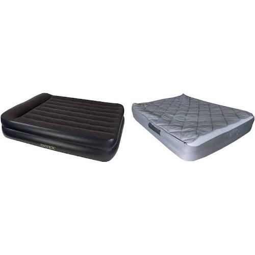 air mattress cover queen Intex Queen Air Mattress with Builtin Pump and Fitted Bedding Kit  air mattress cover queen