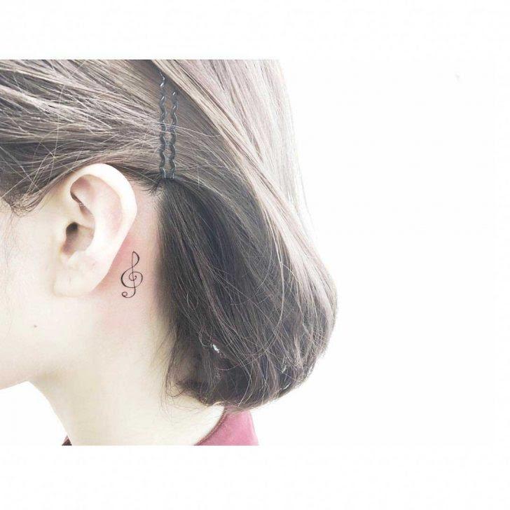 Treble Clef Tattoo Behind Ear Best Tattoo Ideas Gallery