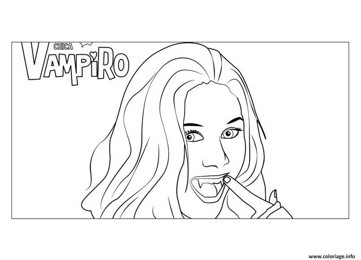 Coloriage Chica Vampiro Daisy Nouveau Jecoloriecom