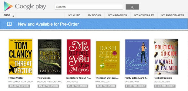 Books preorders now live on Google Play