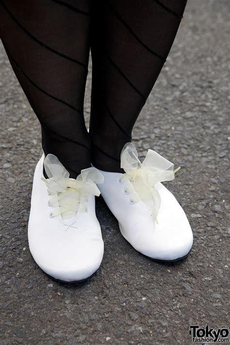 Akari's Acid Wash Jacket, I Am I Skirt & Ribbon Shoe Laces