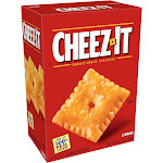 Cheez-It Baked Snack Cheese Crackers, Original, Dual Pack, 48 oz Box (2 Bags)