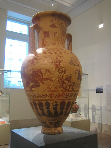 Terracotta neck-amphora (storage jar), Greek, Attic, Proto-Attic, second quarter of the 7th century B.C. _8207