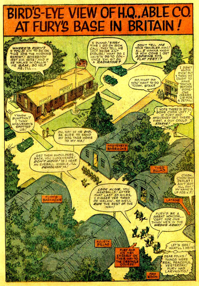 Nick Fury's Army base of operations, from Sgt. Fury Annual #1