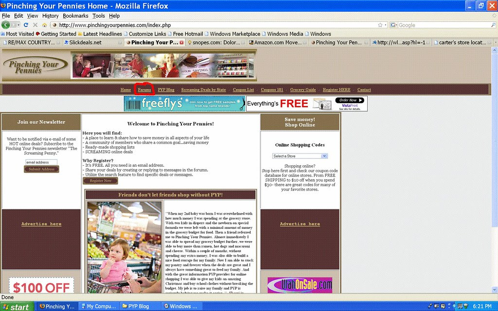 PYP Forums Link on Front Page