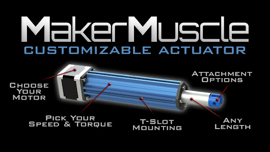Maker Muscle: World's first customizable actuator for Makers
