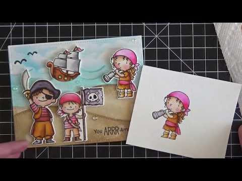 Video Tutorial - Achieving a vibrant copic marker look by water coloring with Zig Markers and a Water Brush - MFT Stamps