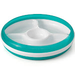 OXO Tot Divided Plate with Removable Ring - Teal