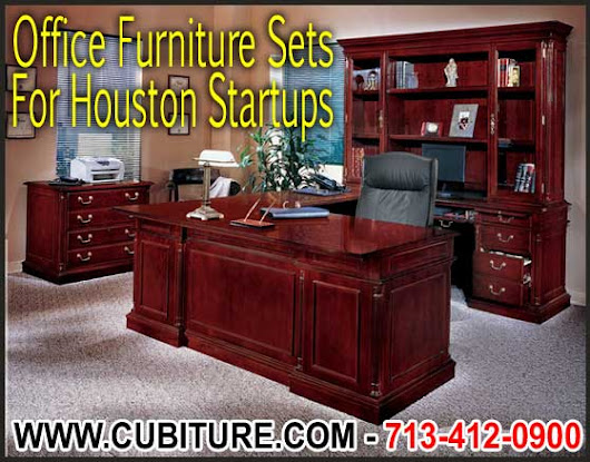 Office Furniture Sets for Houston Startups - FREE Delivery - Made In USA