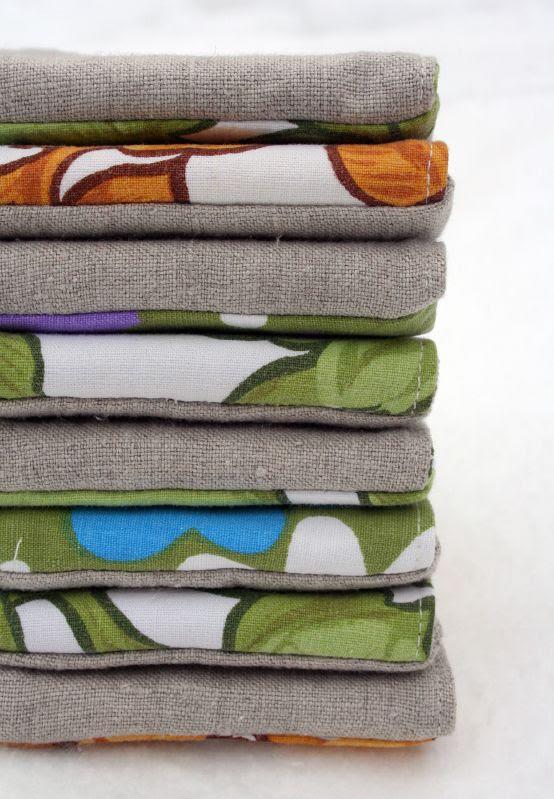 linen & vintage stacking