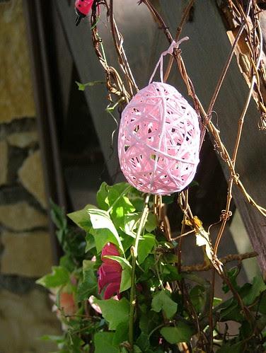Pink Easter decoration