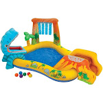 Intex 8ft x 6.25ft x 43in Dinosaur Play Center Inflatable Kids Set Swimming Pool by VM Express