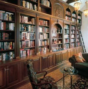 parete biblioteca su misura milano
