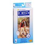 Jobst Activewear Knee-High Moderate Compression Socks Large, White