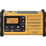 Sangean MMR-88 Weather Alert Radio with Dynamo Crank/Flashlight - Yellow