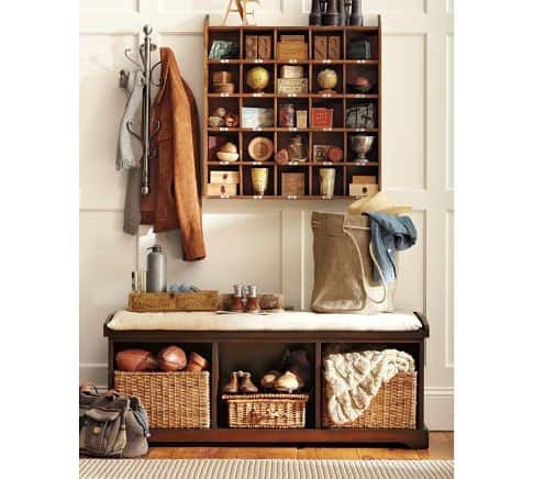 storage idea for entryway