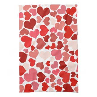 Multicolored Hearts Towel