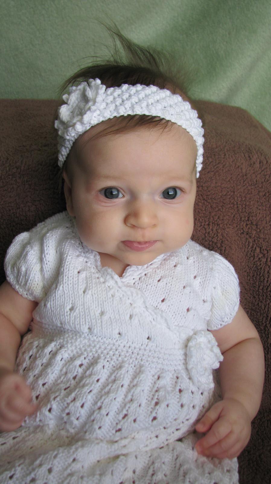 Free Knitting Pattern Baby Lace Wrap Dress