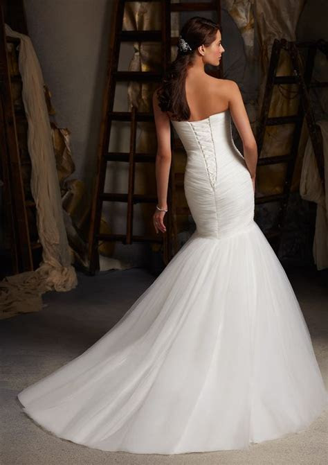Buy Blu by Mori Lee 5108 Simple Mermaid Wedding Dress HuLu
