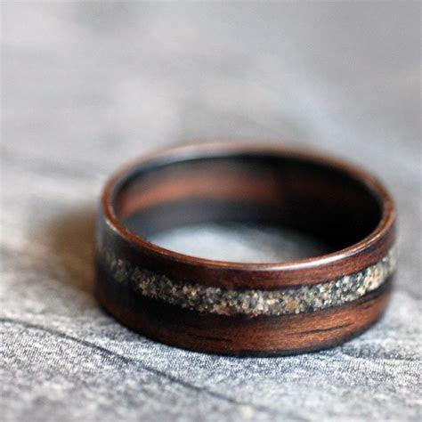 Wooden Ring   Ebony with Lake Superior Sand. $180.00, via