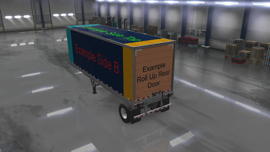 ATS Owned Trailers Templates with Example Skin Mod - American Truck Simulator mod | ATS mod